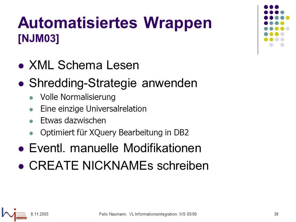 Automatisiertes Wrappen [NJM03]